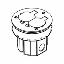 WLK 861DB WD FLR BOX W/895T BRS CVR
