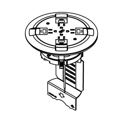Wiremold 899ctcbk Ratchet Pro 881 Single Service Floor Box Cover