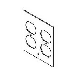 WLK DGT-2DP 2G 2DPLX FLR BOX PLATE