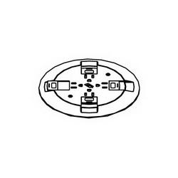 Legrand-Wiremold RC9CTCBK P-THRU CVR,GY FL,BK SL