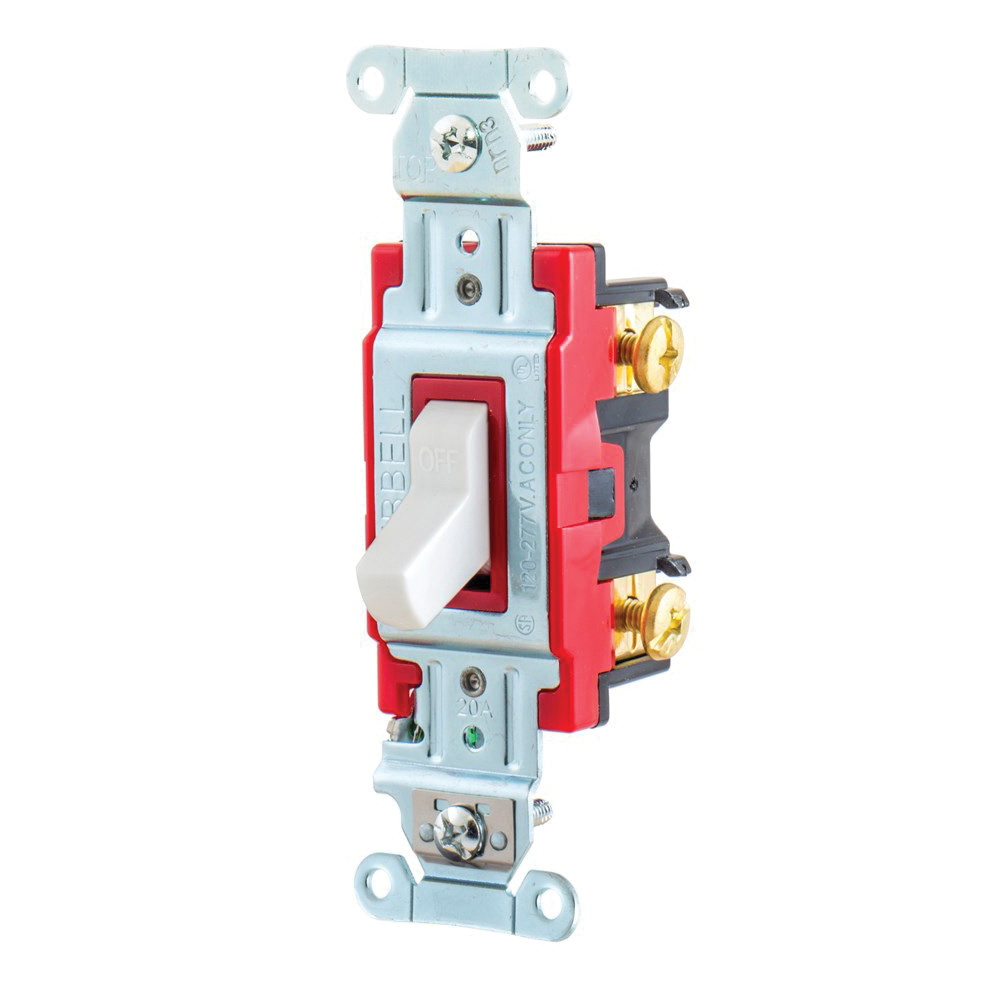 Wiring Device-Kellems 1221W Heavy Duty Toggle Switch, 120/277 VAC ...