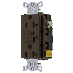 Hubbell Wiring Device-Kellems 20A 125V COMM LED GFCI, BR