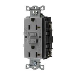 Hubbell Wiring Device-Kellems 20A COM SELF TEST GFR GRAY
