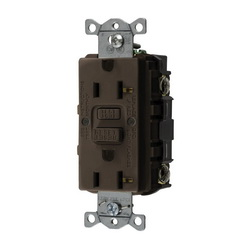 Hubbell Wiring Device-Kellems 20A COM SELF TEST GFR BROWN