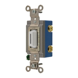Wiring Device-Kellems HBL1201LW Extra Heavy Duty Locking Toggle Switch, 120/277 VAC, 15 A, 1/2 hp/2 hp