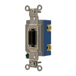 Wiring Device-Kellems HBL1202L Extra Heavy Duty Locking Toggle Switch, 120/277 VAC, 15 A, 1/2 hp/2 hp