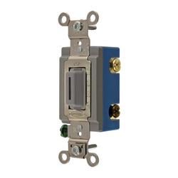Wiring Device-Kellems HBL1203LG 3-Way Extra Heavy Duty Locking Toggle Switch, 120/277 VAC, 15 A, 1/2 hp/2 hp