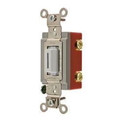 Wiring Device-Kellems HBL1221LW Extra Heavy Duty Locking Toggle Switch, 120/277 VAC, 20 A, 1 hp/2 hp