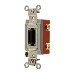 Wiring Device-Kellems HBL1222L Extra Heavy Duty Locking Toggle Switch, 120/277 VAC, 20 A, 1 hp/2 hp