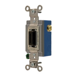 Wiring Device-Kellems HBL1556L Extra Heavy Duty Locking Toggle Switch, 120/277 VAC, 15 A, 1/2 hp/2 hp, SPDT