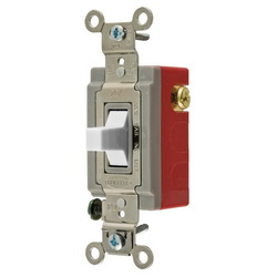 Wiring Device-Kellems HBL1557W Extra Heavy Duty Toggle Switch, 120/277 VAC, 20 A, 1 hp/2 hp, SPDT
