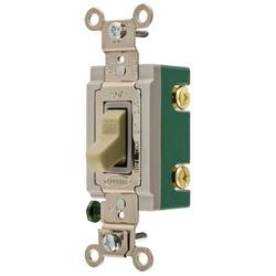 Wiring Device-Kellems HBL3032I Extra Heavy Duty Toggle Switch, 120/277 VAC, 30 A, 2 hp