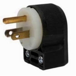 Hubbell Wiring Device-Kellems PLUG, ANGLE, 15A 125V, 5-15P, B/W