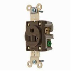 Hubbell Wiring Device-Kellems SGL RCPT, IND GRD, 20A 125V, 5-20R, BR