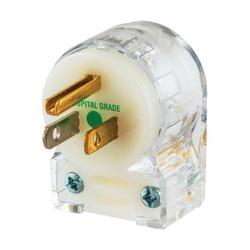 Hubbell Wiring Device-Kellems PLUG, ANG, HG, 15A 125V, 5-15P, CLR