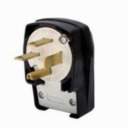 Hubbell Wiring Device-Kellems PLUG,ANG,3P4W, 50A 3PH 250V,15-50P,BK