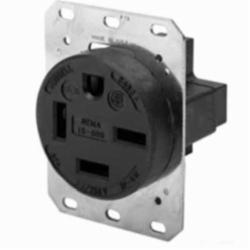 Hubbell Wiring Device-Kellems SGL RCPT, 3P4W, 60A 3PH 250V,15-60R,BK