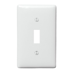 HUBW NP1W WALLPLATE, 1-G, TOGG, WH
