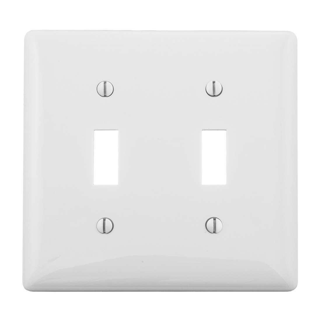WALLPLATE, 2-G, 2) TOGG, WH | Steiner Electric Company