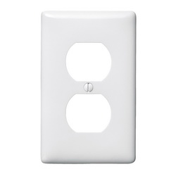 PREMISE WIRING NP8W Standard Wallplate, 1 Gang, 4.63 in H x 2.88 in W, Nylon, White