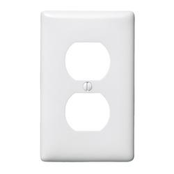 HUBW NP8W 1G WHITE DUPLEX WALLPLATE