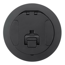 Hubbell Wiring Device-Kellems S1R FRPT 6 COVER BLACK