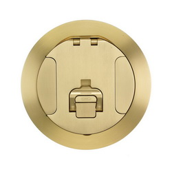 Hubbell Wiring Device-Kellems S1R FRPT 6 COVER BRASS