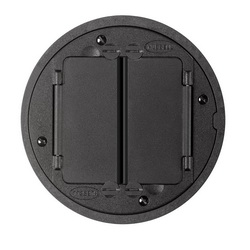 Wiring Device-Kellems SystemOne™ Flush - S1 Standard Sized Floor Box Cover, 5-5/8 in Dia, Die Cast Aluminum