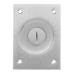 Wiring Device-Kellems SA2425 Combination Rectangular Floor Box Cover, 4.35 in L x 3.1 in W, Aluminum