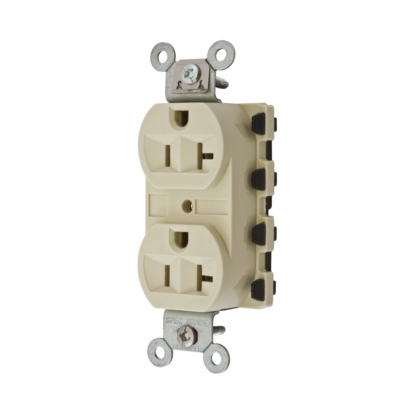 hubbell wiring device kellems snap2connect 20a 125v dplx ivory rh steinerelectric com