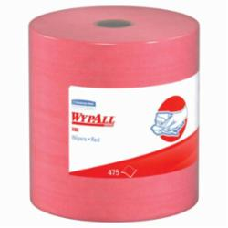 ESS KCC41055 X80 Wipers, Hydroknit Roll, 12 1/2 X 13 2/5, Red, 475 Wipers/roll